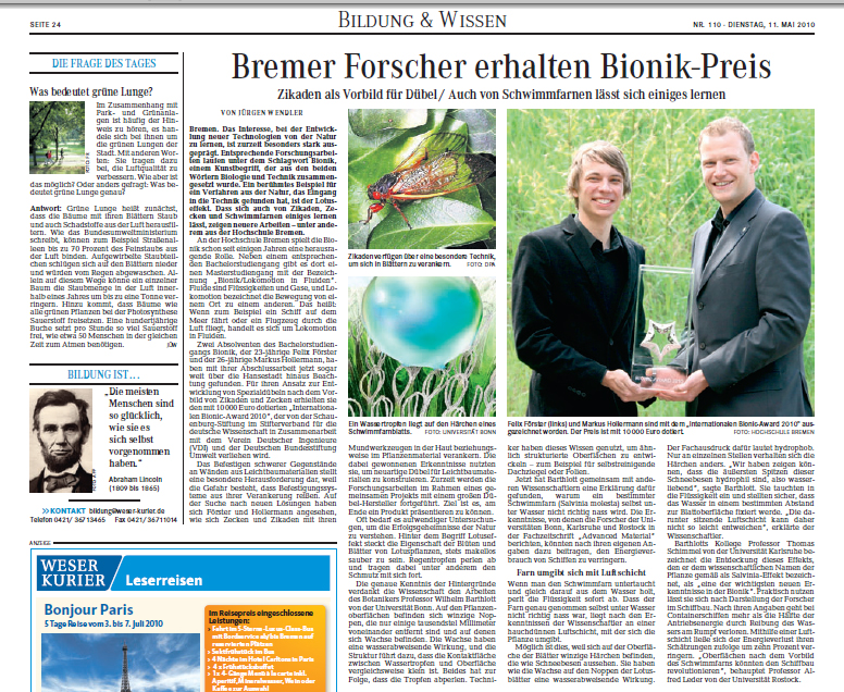 Weser-Kurier-11 in [:de]presse[:en]Press[:]